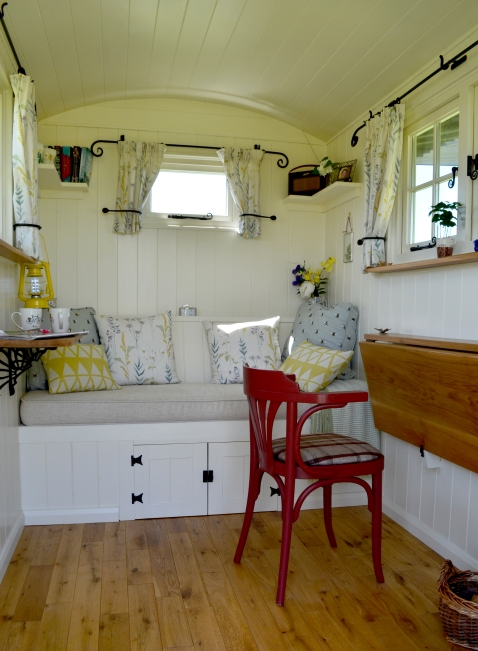 Churlish Green Hut interior