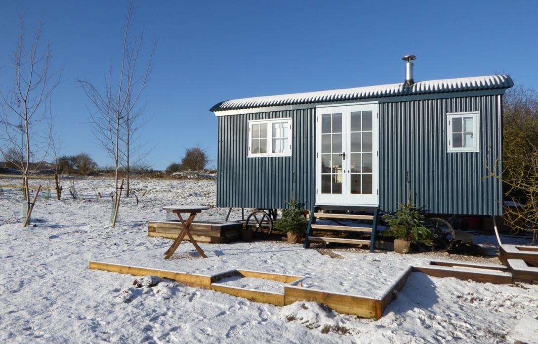 Glamping in the snow