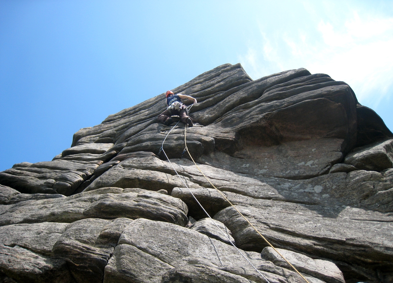 Climbing-on-Stanage