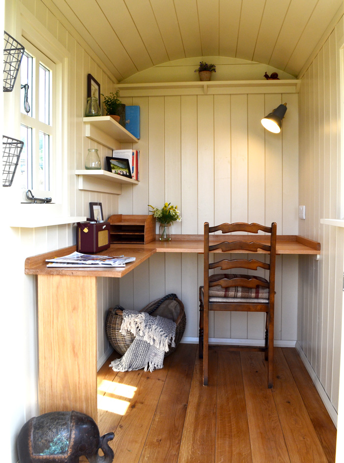 Shepherd hut office